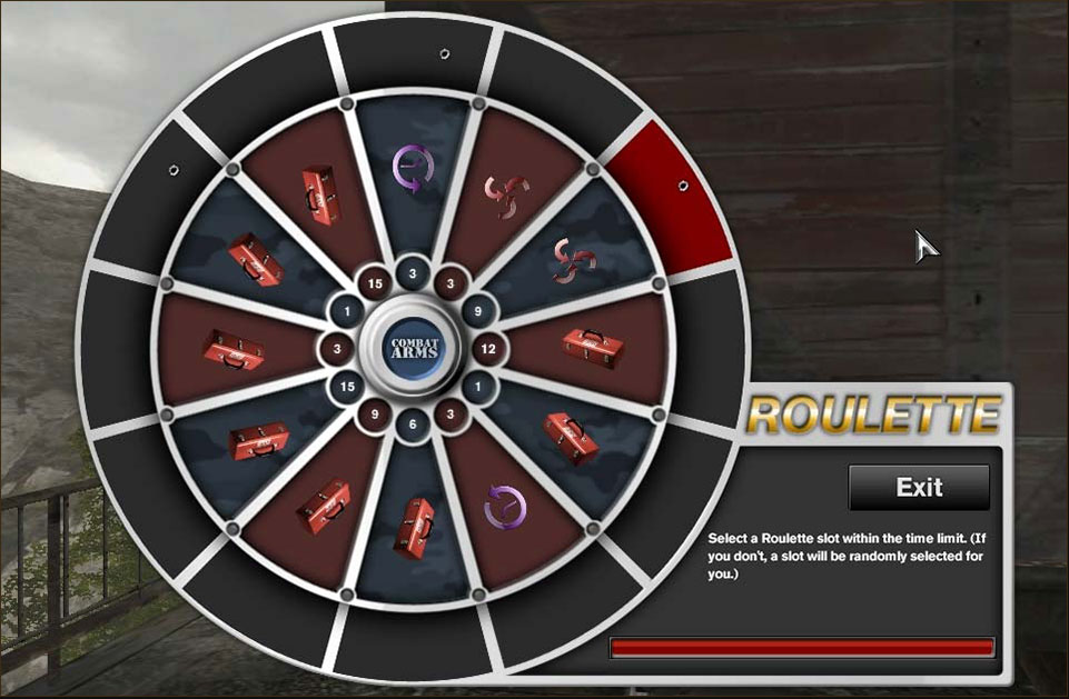 Any time you complete a Combat Arms match that fulfills the following criteria, you'll see the Roulette Wheel pop up.