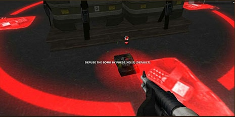 To defuse the bomb, find the bomb after it has been planted, and press E.